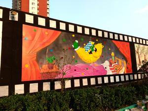 北京钟坤国际幼儿园墙绘